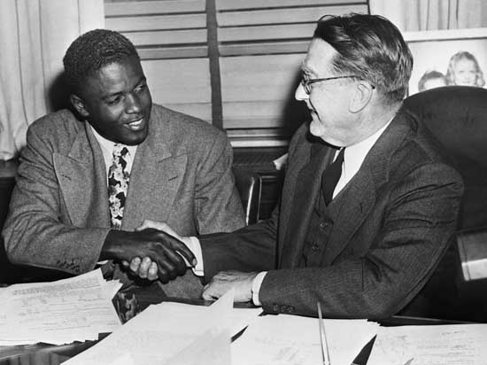 branch rickey and jackie robinson interview essay Branch rickey and jackie robinson: interview essay in august, 1945, while playing for the kansas city monarchs of the negro league, jackie met in brooklyn with dodgers owner-manager branch rickey.