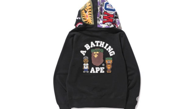 7e64a380 BAPE NY Collaborates with Pusha T, Big Sean, Kid Cudi & More For 10th  Anniversary Collection