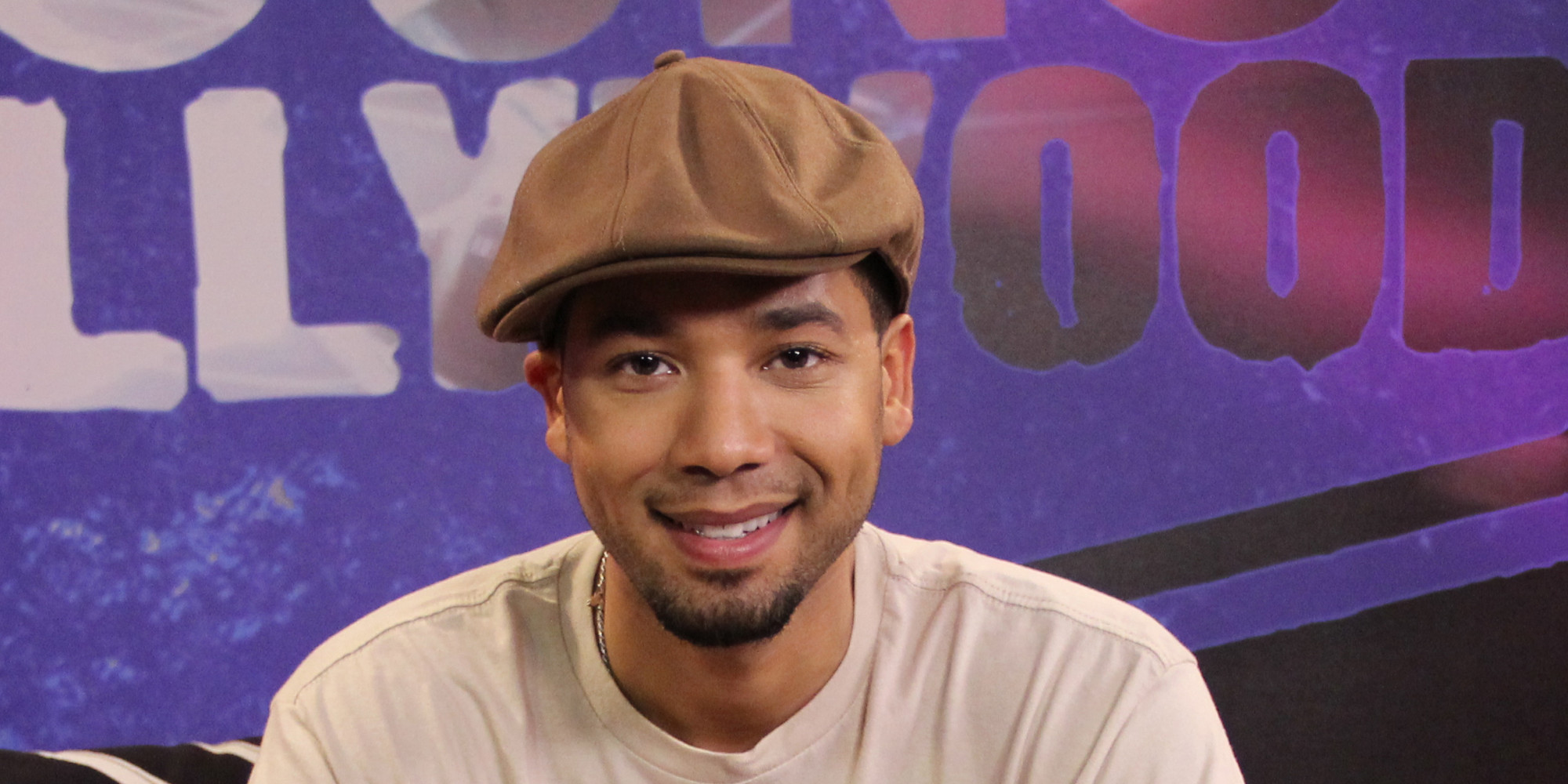 Jussie Smollett Visits Young Hollywood Studio