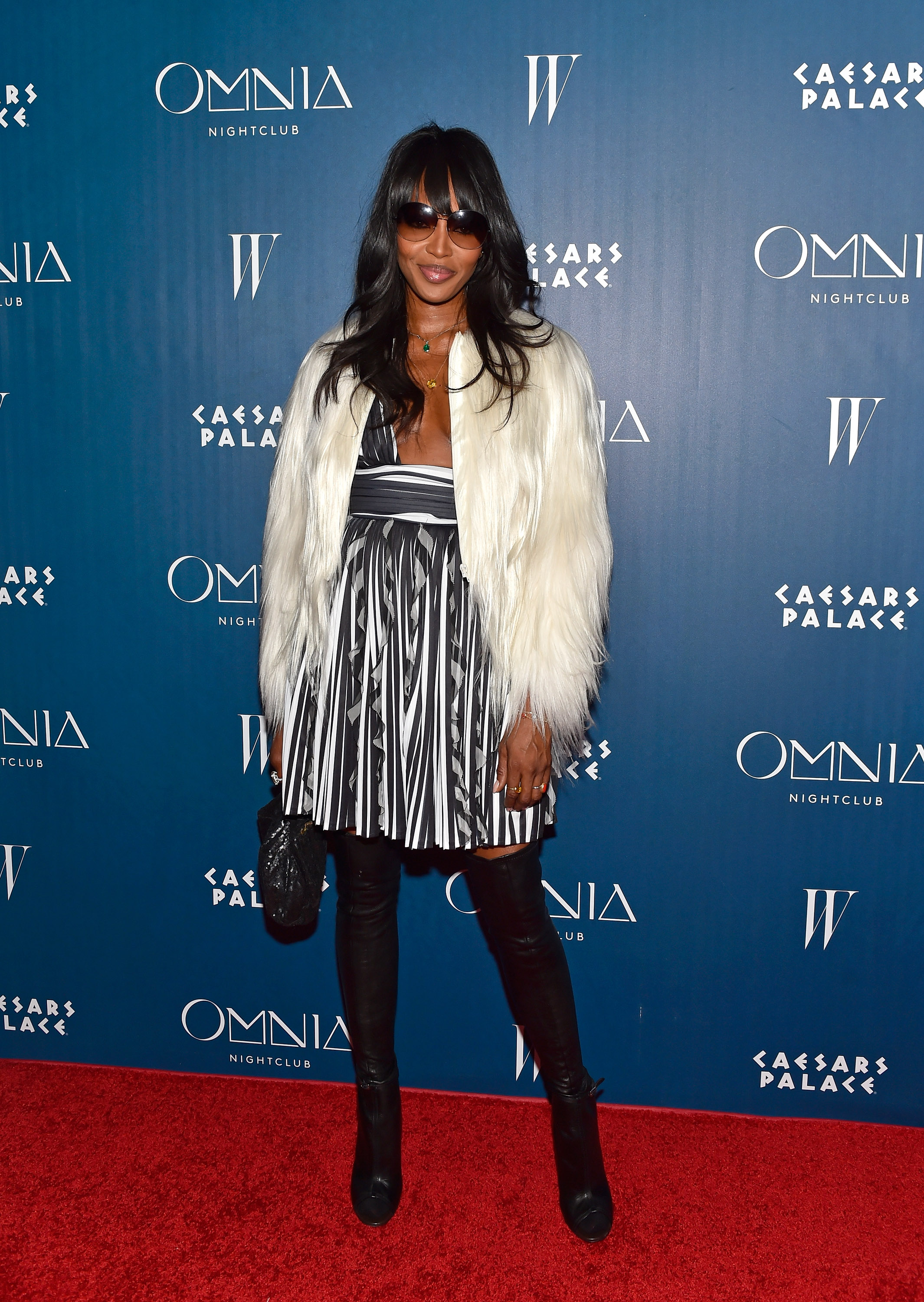Naomi Campbell OMNIA Grand Opening Red Carpet