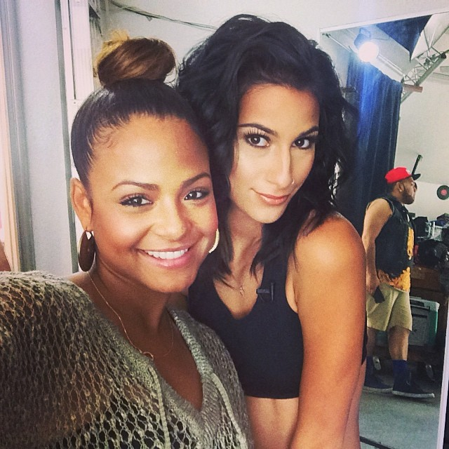 christina milian working with lexy panterra for lextwerkout app  christal rock