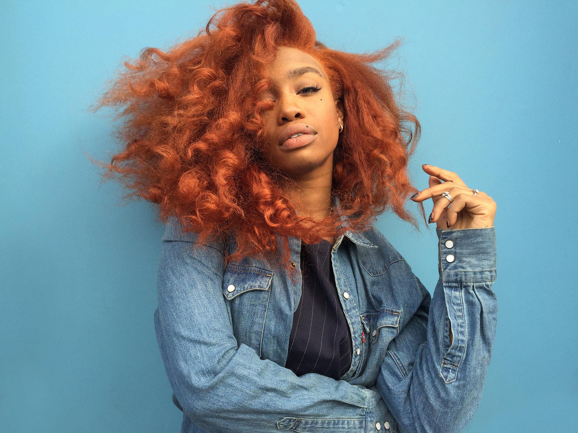 sza orange hair