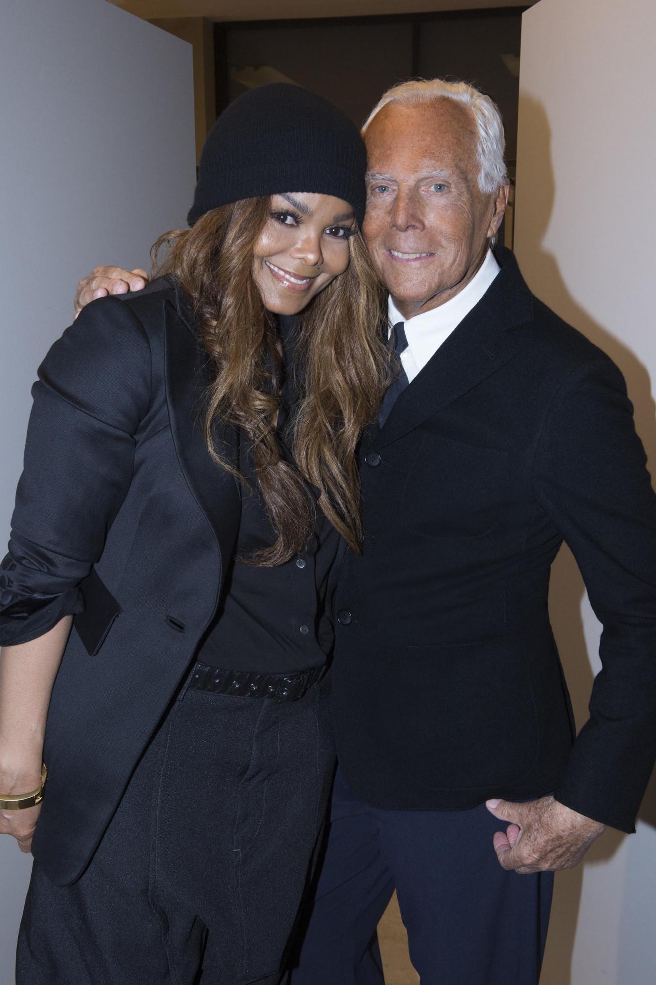 Janet Jackson and Giorgio Armani