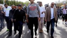 Melo marches for Baltimore