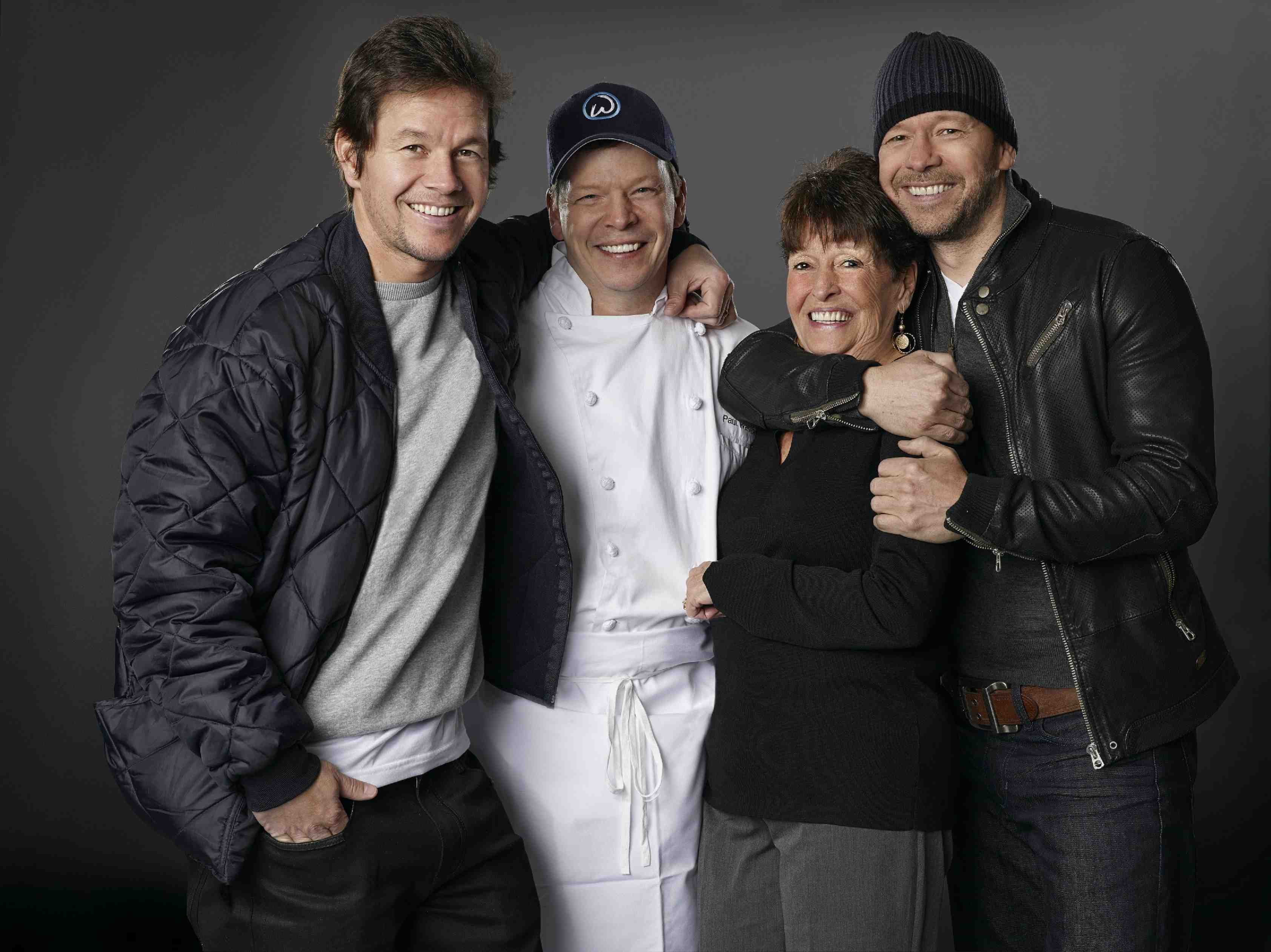 Wahlburgers Mark Paul Alma and Donnie Wahlberg  Photo by Zach Dilgard