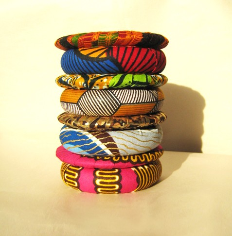 african-print-bangles