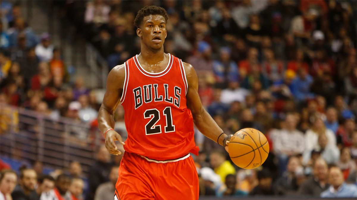 """Watch Jimmy Butler Play """"Sink It Or Swim"""" On Jimmy Kimmel Live 