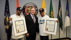 HHSYC with Nassau County Executive Ed Mangano holding the 2015 HAGGV Proclamation.
