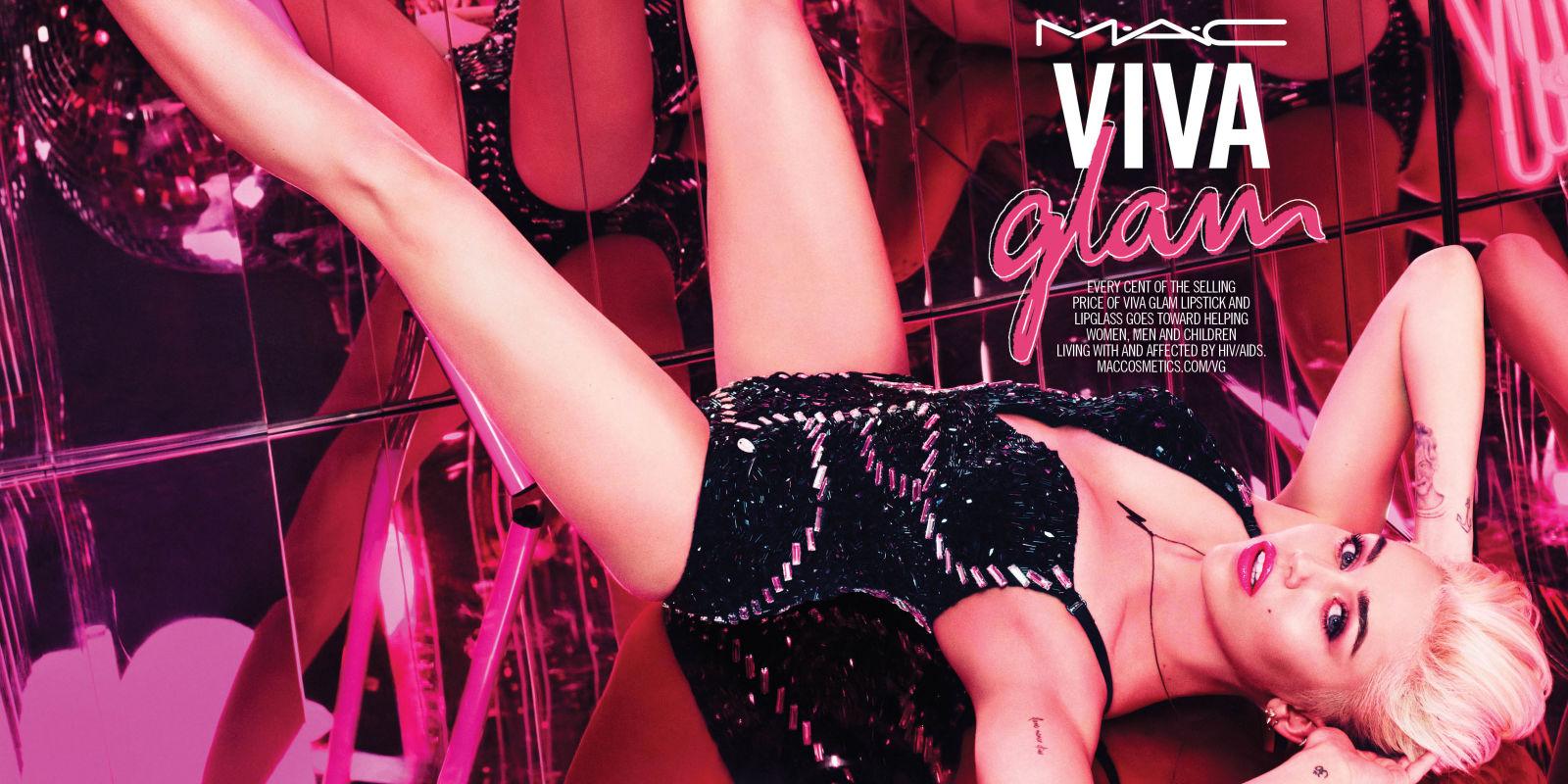 nrm  viva glam miley cyrus spread