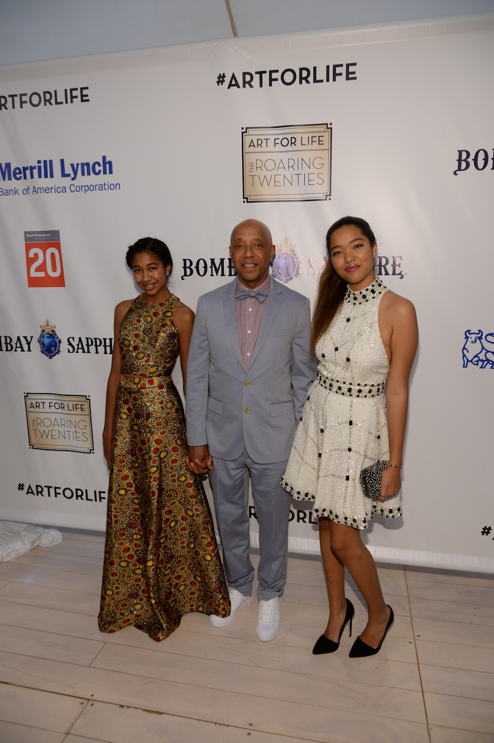 russell simmons dave chappelle more attend the 16th annual art for life benefit. Black Bedroom Furniture Sets. Home Design Ideas