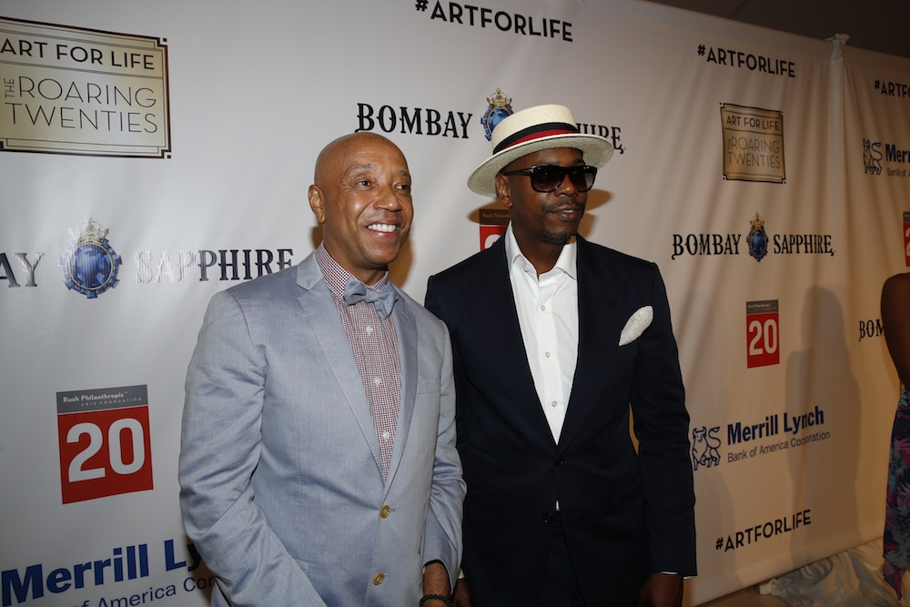 Russell Simmons and Dave Chappelle