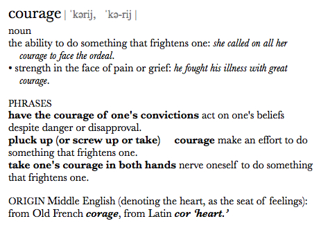 courage definition