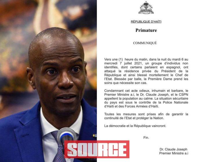 Haiti President Assassinated and Wife Injured Overnight