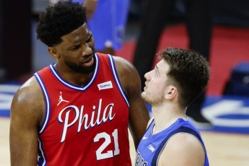 Joel Embiid And Luka Doncic Tim Nwachukwu GettyImages AFP