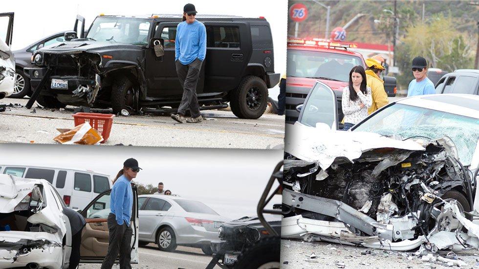 bruce jenner car crash photos