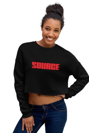 the source logo crop sweatshirt