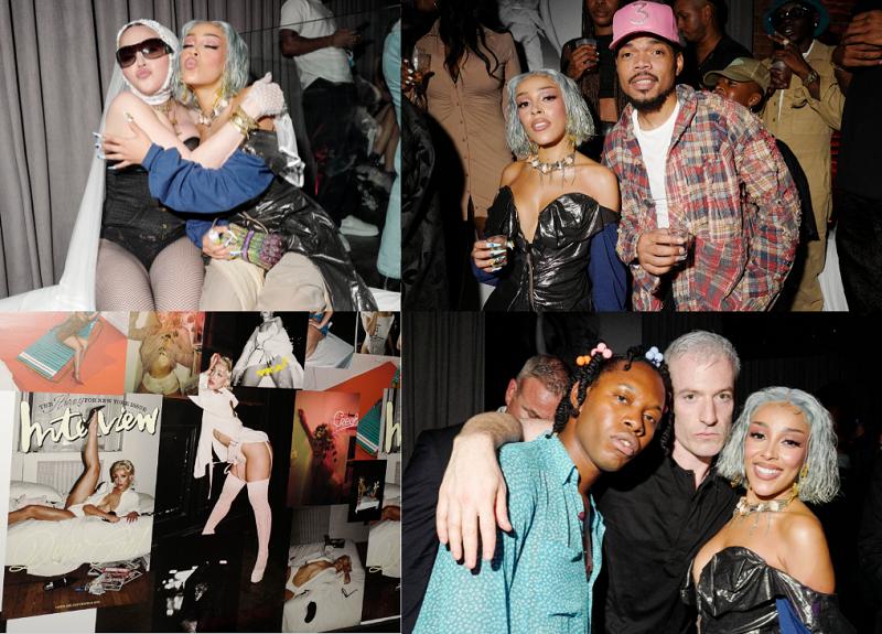 Chance the Rapper, Yung Miami, Lil Nas X Attend Doja Cat's Post-VMA Party