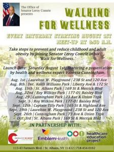 Walking For Wellness flyer Comrie