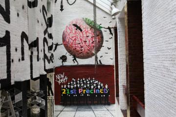 brooklyn street art pesu pixote bill claps jaime rojo  precinct   web