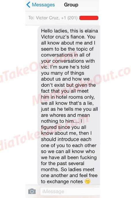 Victor-Cruz-text message
