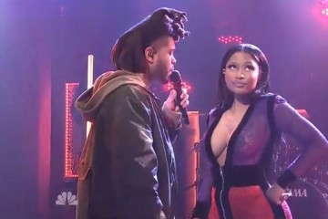 the weeknd nicki minaj perform snl