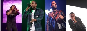 Future, Kendrick Lamar, French Montana and Big Sean on the Powerhouse stage.​
