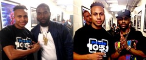 "Sharieff ""The Fitness Sheriff"" with Dreamchasers Records artist Omelly and Big Sean.​"