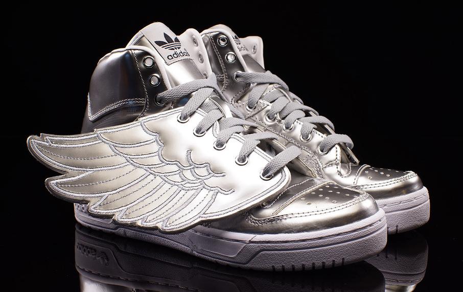 adidas jeremy scott wings silver