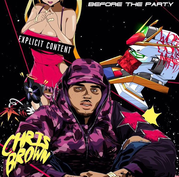 chris brown before the paty