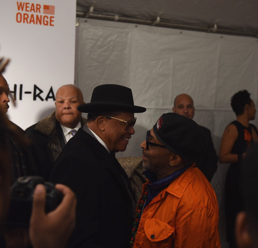 Minister Louis Farrakhan and Spike Lee - 'Chi-Raq' World Premiere, Chicago, November 22, 2015, The Chicago Theater Photo credit: Juan Anthony Images