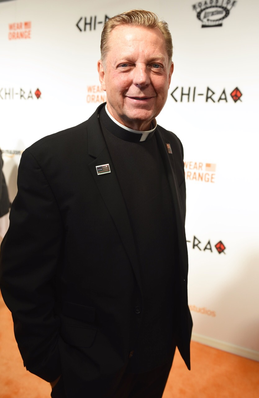 Father Michael Phleger - 'Chi-Raq' World Premiere, Chicago, November 22, 2015, The Chicago Theater