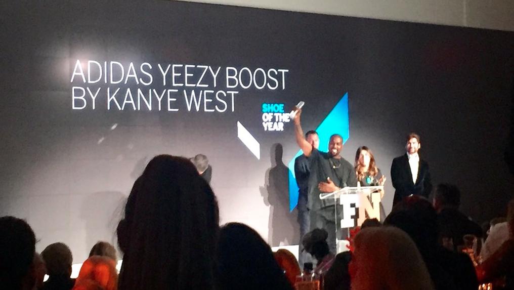 KanyeWestWins&#;ShoeOfTheYear&#;AwardAtFNAAs