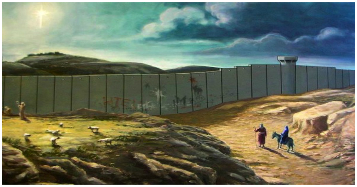 Banksys Painting of Joseph and Mary on the Road to Bethlehem Resurfaces