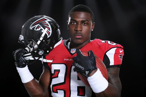 Tevin Coleman with the Atlanta Falcons