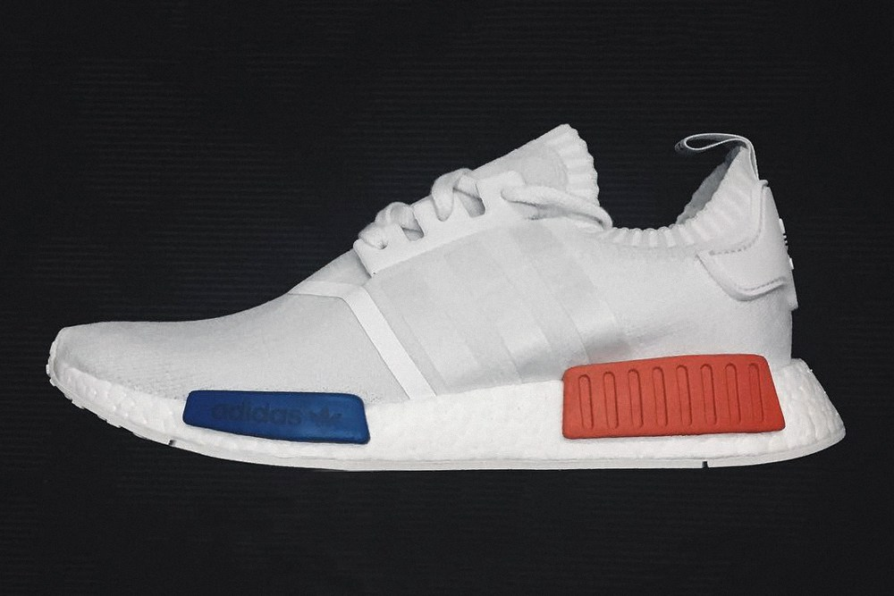 first look white adidas originals nmd