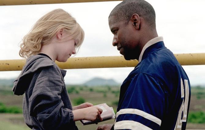 Dakota Fanning and Denzel Washington in Man on Fire IMDB