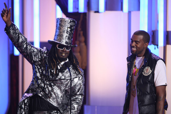 on stage during the 2008 BET Awards at the Shrine Auditorium on June 24, 2008 in Los Angeles, California.