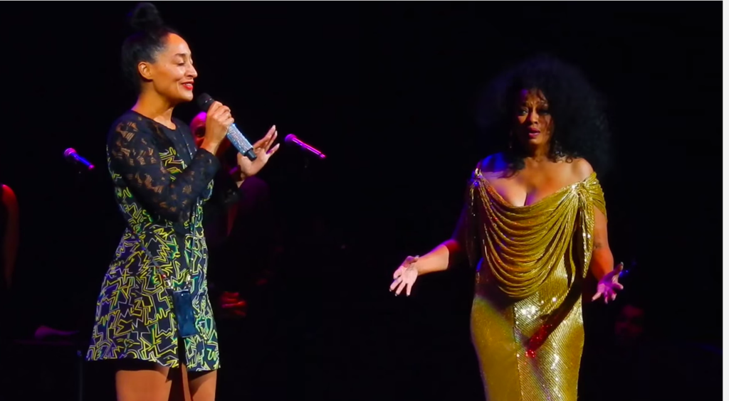 tracee ellis ross diana ross on stage SOURCE