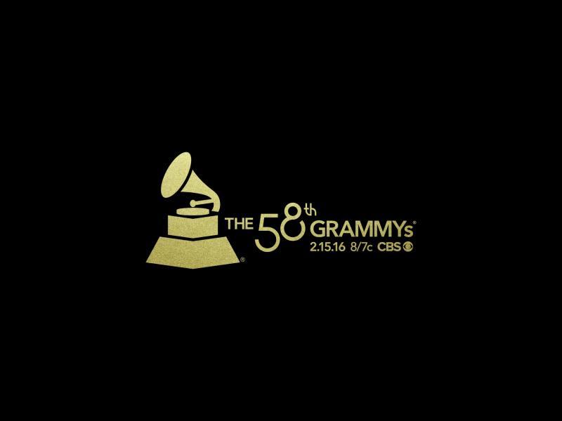 th grammys lockup tune in big  gold on black