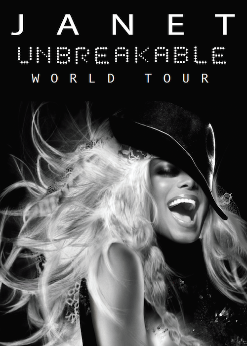 JANET UNBREAKABLE WORLD TOUR POSTER