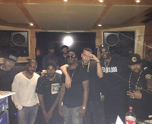 Kanye West Hit the Studio With Andre   Chainz Kid Cudi