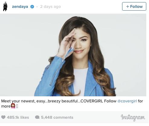 Zendaya CoverGirl