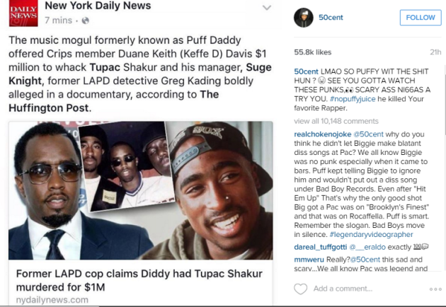 50 Cent Seconds Allegations Of Diddy's Involvement In