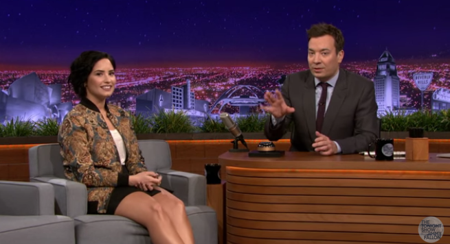 Demi Jimmy Fallon
