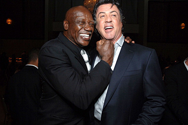 "Tony Burton and Sylvester Stallone during ""Rocky Balboa"" World Premiere - Arrivals at Grauman's Chinese Theatre in Hollywood, California, United States. (Photo by Alberto E. Rodriguez/WireImage)"
