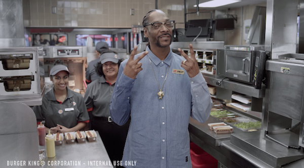 snoop dogg burger king commercial grilled dogs