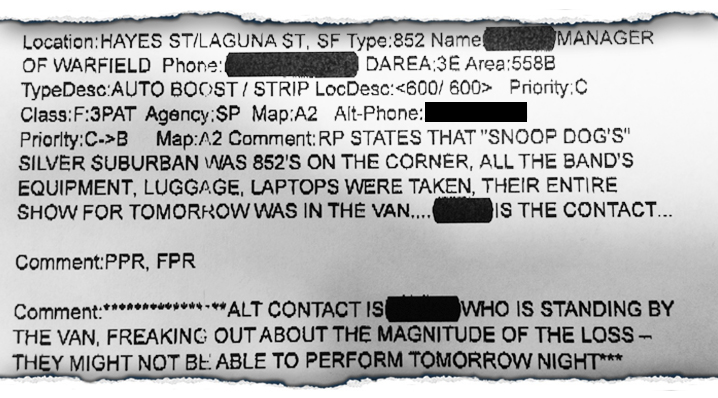 snoop police report