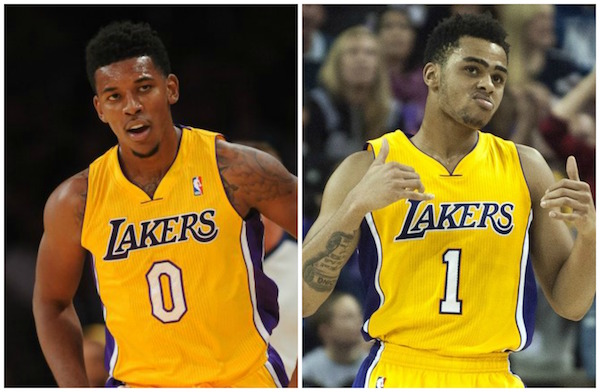 DAngelo Russell Nick Young Los Angeles Lakers