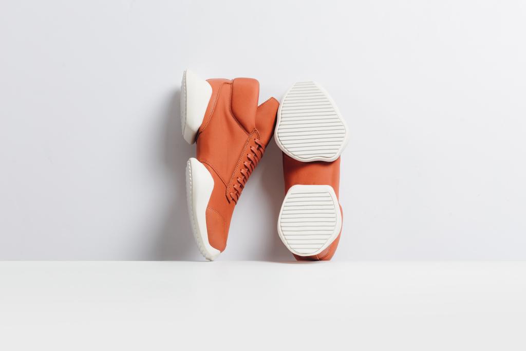 adidas rick owens tech runner orange