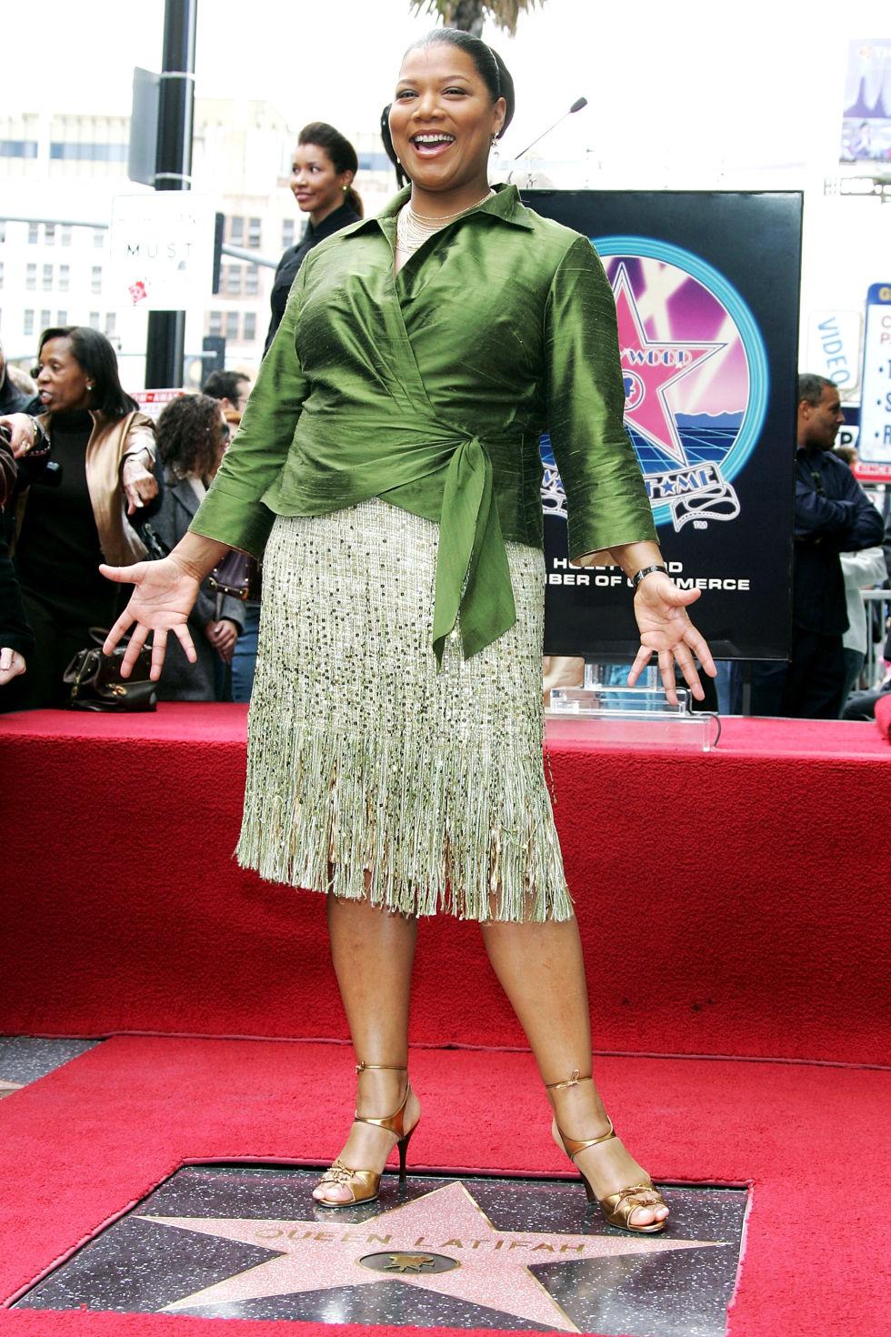 hbz hollywood walk of fame stars queen latifah